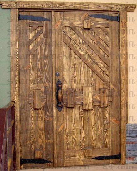 Как состарить деревянную дверь своими руками 20