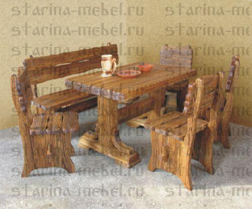 стол под старину богатырь