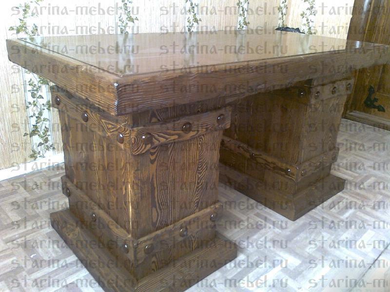 письменный стол под старину директор из состаренного дерева